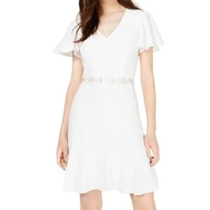 White fit & flare dress - NWT!
